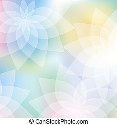 couleurs pastel, fond, floral
