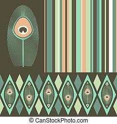 couleurs, pastel, motifs, seamless, kit