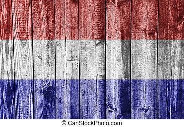 couleurs, pays-bas, gentil, drapeau, textured