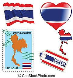 couleurs, thaïlande, national
