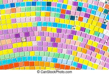 couleurs, tuiles, mosaïque