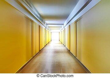 couloir, à, ternissure mouvement
