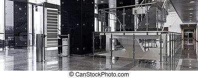 couloir, dans, moderne, bureau