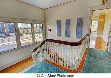 couloir, escalier