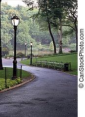 couloir, parc