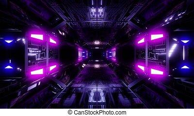 couloir, technique, papier peint, science-fiction, tunnel, vjloop, illustration, fond, futuriste, 3d