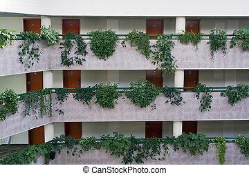 couloirs, hôtel