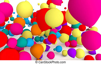 couloured balloons background