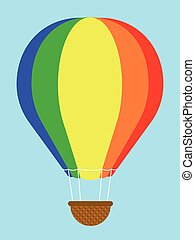 Coulourful hot-air balloon