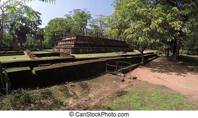 Council Chamber of Polonnaruwa, an Ancient Building Ruin in Sri Lanka