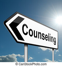 Counseling concept. - Illustration depicting a road traffic...