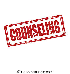 Counseling-stamp - Grunge rubber stamp with word Counseling...