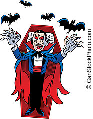 Count Dracula. Halloween - The illustration shows a cartoon...