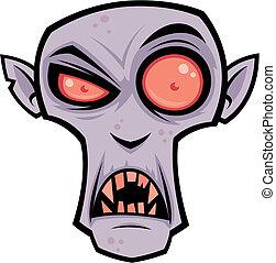 Count Dracula - Vector cartoon illustration of the creepy...