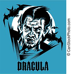 count dracula - stylized drawing of dracula, prince of...