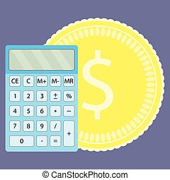 Count money on calculator
