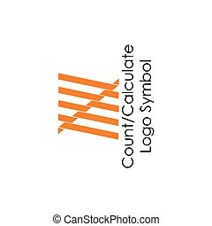 count stripes symbol logo vector