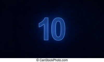 countdown 10 to 0 - blue
