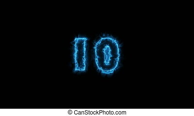 Countdown 10 to 1 with energy numbers