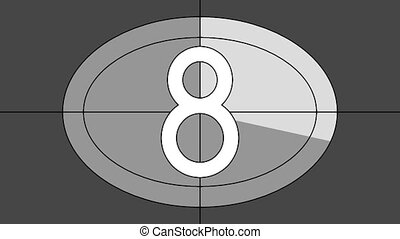 countdown animated countdown sequence 9 to 0