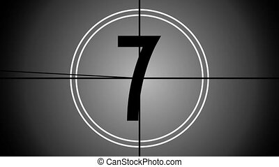 Countdown animation (black and white) - great for the...