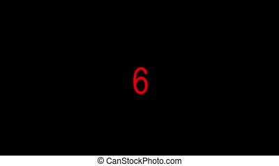 Countdown animation from 10 to 0