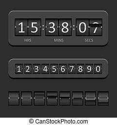 Countdown Board - Black Countdown Board and timer Vector...