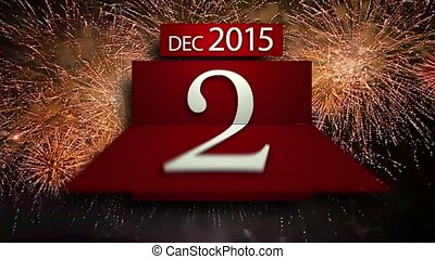 Countdown calenda new year 2016