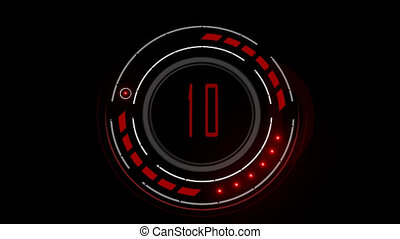 Countdown - Circle HUD timer 10 seconds with tridimensional...