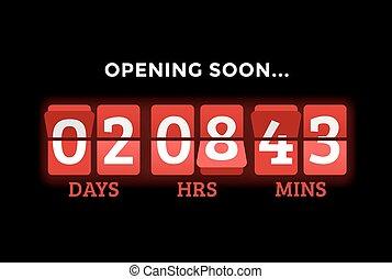 Countdown clock digits board panels timer