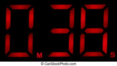 Countdown Clock Real 60 Seconds - One Minute Counting Down. ...