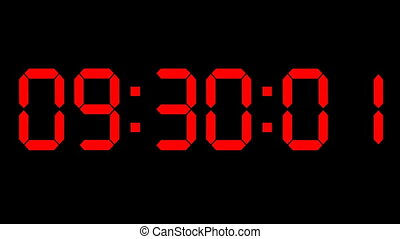 Countdown clock red led
