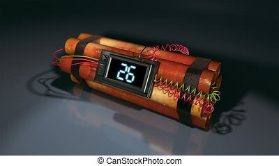 Countdown Dynamite Bomb. - 30 seconds high quality animation...
