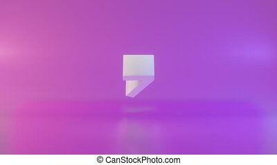 Countdown from 10 to 0 3d illustration rendering , modern flat design and minimalist. Countdown in Full-HD with gradient background and iridescent background with purple and pink color gradient