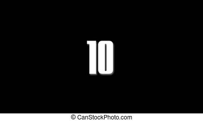 A short text countdown from 10 to 0. Perfect for introducing an element of footage or for live use for the start of an event. A great piece of stock footage filmed in high quality 4k definition, perfect for film, tv, documentaries, reality TV, trailers, VJs, infomercials and much more!