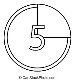 Countdown icon, outline style