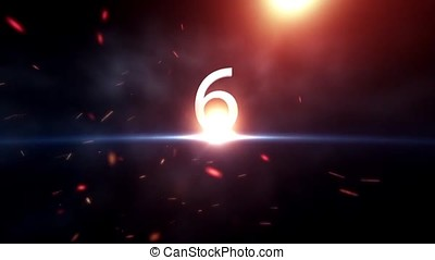 Countdown Motiongraphic 10 to 0. Countdown Start. Amazing...