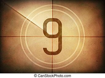 countdown, neun