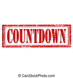 Countdown-stamp - Grunge rubber stamp with text Countdown, ...