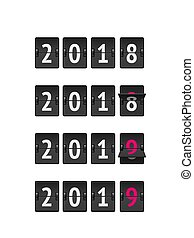 Countdown timer 2019 for New year design vector