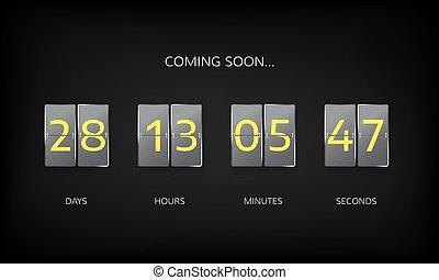 Countdown timer clock counter. Countdown web site flat...