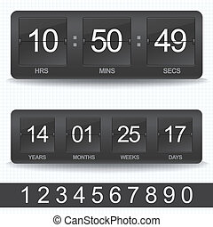 Countdown timer - Vector countdown timer - easy change time