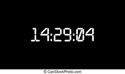 Countdown timer dropping from 24 to 0 with white big numbers on black background.