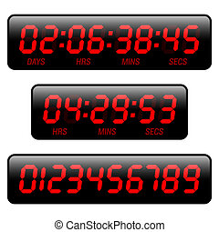 Vector illustration of a countdown timer
