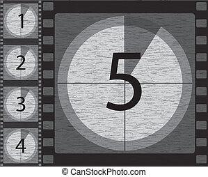 countdown, weißes, schwarz
