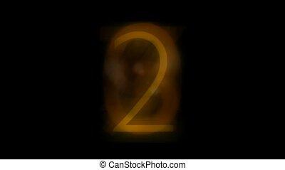 Countdown with golden figure,seamless loop