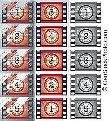 countdowns, film, (vector)