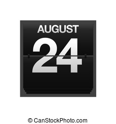 Counter calendar august 24. - Illustration with a counter...