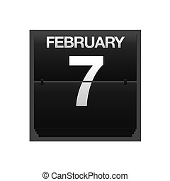 Counter calendar february 7. - Illustration with a counter...