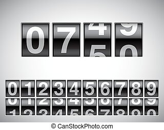 Counter. - Counter with all numbers on white background.